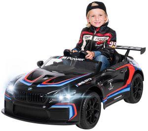 Kinder Elektro Auto BMW M6 GT3 Kinderauto Kinderfahrzeug Elektrofahrzeug Spiel (Schwarz)