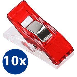 10x Stoffklammern Nähklammern Nähclips WonderClips Nähzubehör in Rot