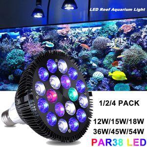 LED Aquarium Beleuchtung Vollspektrum E27 Lampe Pflanzenlicht Leuchtmittel 54W