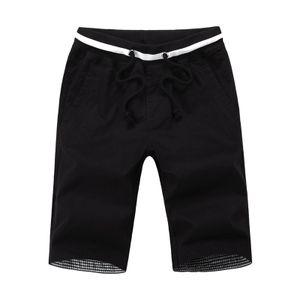 Männer Sommer Shorts mit Taschen Baumwolle Casual Strand Shorts Männlichen Sommer Kleidung Schwarz M.