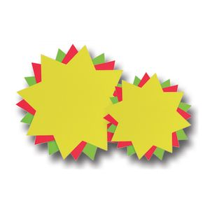 folia 671 926 Werbesymbol 300g/m² Stern 18cm, doppelseitig, 20 Teile, leuchtrot (1 Stück)