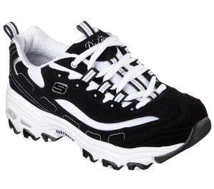 Skechers Lites Damen Low Sneaker Schwarz Schuhe, Größe:39