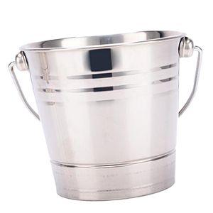 Edelstahl Eisbehälter Getränkekühler Isoliert Eiseimer Eiskübel für Zuhause, Party, Bar, Restaurant Größe 2,8 l