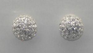Pilgrim Damen Ohrringe Ohrstecker Metall Farbe Silber Margreth