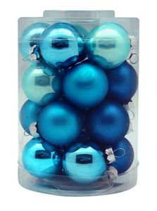 Weihnachtskugeln Glas 3cm, 20 Stück, Farbe:Dazzling Club ( türkis )