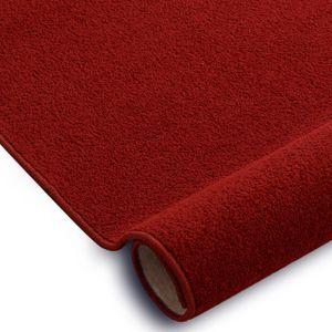 Einfarbiger Teppich Eton für Zimmer, Wohnzimmer, Schlafzimmer, Teppichboden Auslegware, Verschiedene Größen 300x400 cm rot