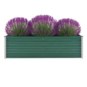 Garten-Hochbeet Verzinkter Stahl 160x40x45 cm Grün