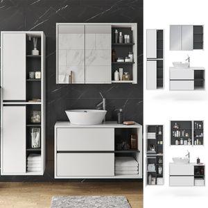 Vicco Badmöbel Set Viola Weiß Spiegelschrank Hochschrank Waschtischunterschrank