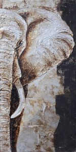 Handgefertigtes Ölgemälde - Motiv: Elefant