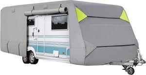 ONVAYA® Wohnwagen-Schutzhülle | Abdeckung fürs Wohnmobil | atmungsaktive Abdeckplane | Wind- und wetterfest | 670 x 250 x 220 cm