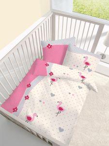 Baby Bettwäsche Flamingo 40 x 60 und 100 x 135 cm