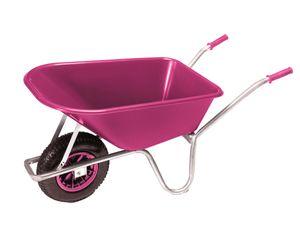 PRO-BAU-TEC Gartenkarre Schubkarre Schiebkarre 100l Liter PP Mulde Pink **