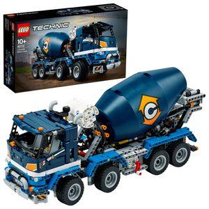 LEGO 42112 Technic Betonmischer-LKW, Mischmaschine, Spielzeug für Kinder ab 10 Jahre, Baufahrzeug mit interaktiven Funktionen