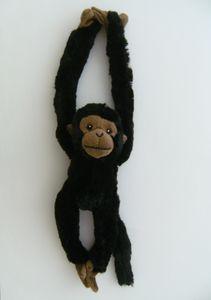 Plüschtier Affe 40 cm, schwarz,  Hängeaffe Affen Hängeaffen Kuscheltiere Stofftiere Klettband