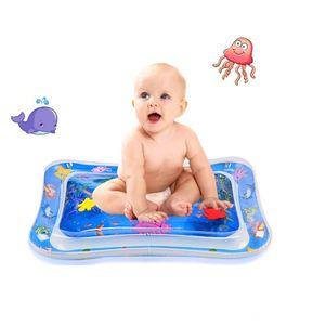 Wassermatte Baby, Wasserspielmatte BPA-frei, Baby Spielzeug 3 6 9 Monate, Aufblasbare Bauchzeit Matte, Spaßaktivitäten Das Stimulationswachstum Ihres Babys, Kinder Spielzeug Baby(66 x 50 cm)