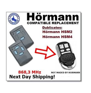 Hörmann HSM2 868/Hörmann HSM4 868 kompatibel Fernbedienung, 4 Kanäle 868,3 MHz Fixed Code Klonen. Ersatz hochwertigem für das beste Preis. (nicht kompatibel mit BS BiSecur Fernbedienungen)