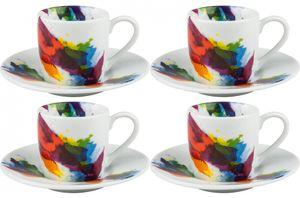 Espressotasse mit Untertasse On Colour - Flow : 4er Set Menge: 4er Set