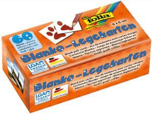 folia Blanko-Memory-Karten 60 x 60 mm weiß 60 Karten