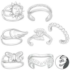 Ear Cuff Ohrklemme Silber 925: Ohrring ohne Loch, Modell:Modell 2