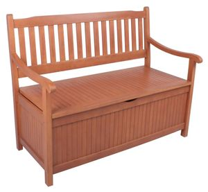 Garden Pleasure Holzbank/Truhenbank 2-Sitzer B 107 x H 90 x T 59 cm, geölt