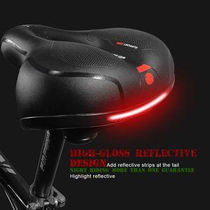 Fahrradsattel Gel mit Reflektor Fahrradsitz Gelsattel Fahrrad Sattel ergonomische Form Radsattel