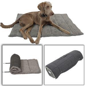 Haustierdecke Orkney M 100 x 65 cm - plüschig weiche Hundedecke für unterwegs - Universaldecke für Hunde und Katzen - ein- und ausrollbar
