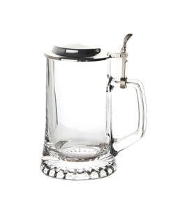 Bierseidel 0,5 Liter Bierkrug mit Zinndeckel