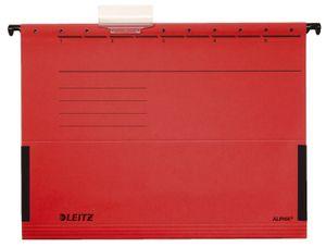 Leitz Hängetasche ALPHA 19860025 DIN A4 Colorspankarton rot, 25er pack