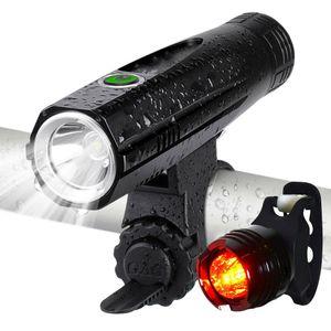 Hohe Helligkeit hohe Qualität USB Wiederaufladbare LED Fahrradlicht Lampe Set