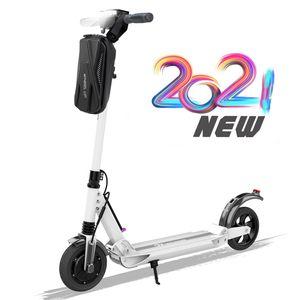 Evercross-E1 Elektroscooter mit Tasche ,Bis 30 km/h E Roller Mit Vorderen und Hinteren Rückleuchten   mit Tasche 7.5Ah Akku  350 Watt Motor City Roller weiss