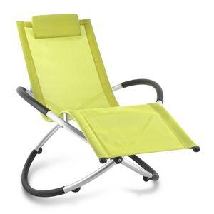 Blumfeldt Chilly Billy ergonomische Relaxliege Liegestuhl Gartenstuhl Klappstuhl (Liege, 120 kg maximale Belastung, atmungsaktiv, witterungsbeständig, pflegeleicht, faltbar) grun