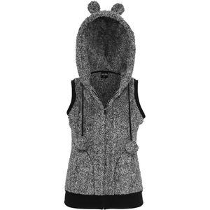 Urban Classics Ladies Melange Teddy Vest, Größe: Xl