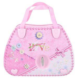 Mllaid Handtasche Form Spieluhr, Rosa Schönes Spieluhr Schmuck Aufbewahrungsbox mit tanzendem Mädchen für Heimdekoration