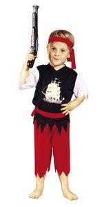Kostüm Pirat Piratenkostüm Seeräuber Freibeuter für Kinder Kinderkostüm Gr. 98 - 116, Größe:110