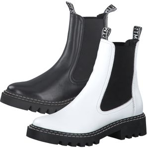Tamaris Damen Stiefeletten Leder Chelsea Boots 1-25455-27, Größe:37 EU, Farbe:Schwarz