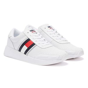 Tommy Hilfiger Perforated Leather Weisse Herren Sneakers