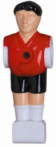 11 Kickerfiguren 16 mm rot-schwarz Komplett Set