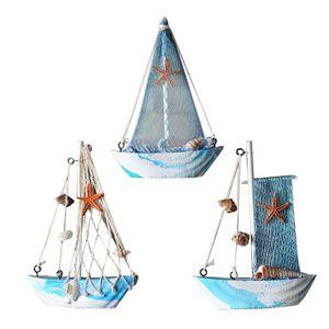 3 Stück Holz Segelschiff Deko Maritim Dekoartikel MEER Schiff Boot