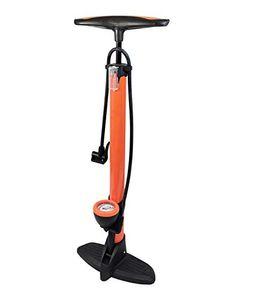 Metall Standpumpe Luftpumpe Hochdruck Fahrradpumpe 11 bar Manometer alle Ventile