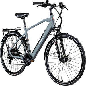 Zündapp Z810 Herren E-Bike 28 Zoll Trekkingrad Pedelec E-Trekkingrad Fahrrad Trekking Bike StVZO, Farbe:grau, Rahmengröße:52 cm