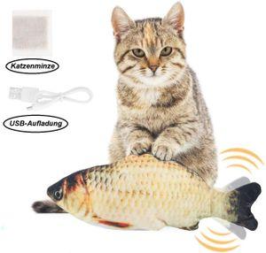 Elektrische USB-Ladesimulation Fisch Katzenspielzeug Lustige interaktive Haustiere Katzen Katzenminze Spielzeug fuer Katze Kaetzchen