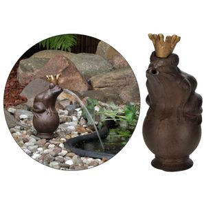 HI Heim,Garten,Dekoration,Brunnen,Teiche,Brunnen,Wasserfälle Wasserspeier Froschkönig Braun