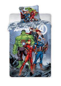Marvel Avengers Comic - Kinderbettwäsche 2tlg. Set 135 140x200 Thor Hulk Ironman