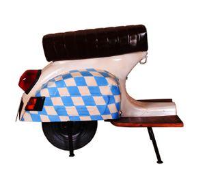 SIT Barhocker Bayern   recyceltes Roller-Heck   Sitz Kunstleder   Gestell Metall   B 110 x T 53 x H 88 cm   01054-42   Serie THIS & THAT