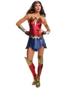 Wonder Woman-Kostüm für Damen Justice League rot-blau-gold