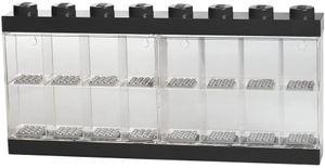 LEGO vitrine 16 Minifiguren 38 x 18 cm Polypropylen schwarz