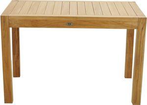 Teak Massivholz Gartentisch NEW HAVEN 120x77x80 von PLOSS