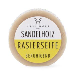 Haslinger Sandelholz Rasierseife beruhigend milde Pflanzenöle Erfrischender Duft 60 g