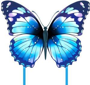 Schmetterling Drachen flugdrachen für Kinder und Erwachsene (blau)