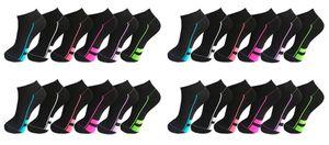 24 Paar Sneaker Socken Füßlinge Baumwolle Gr. 35-38